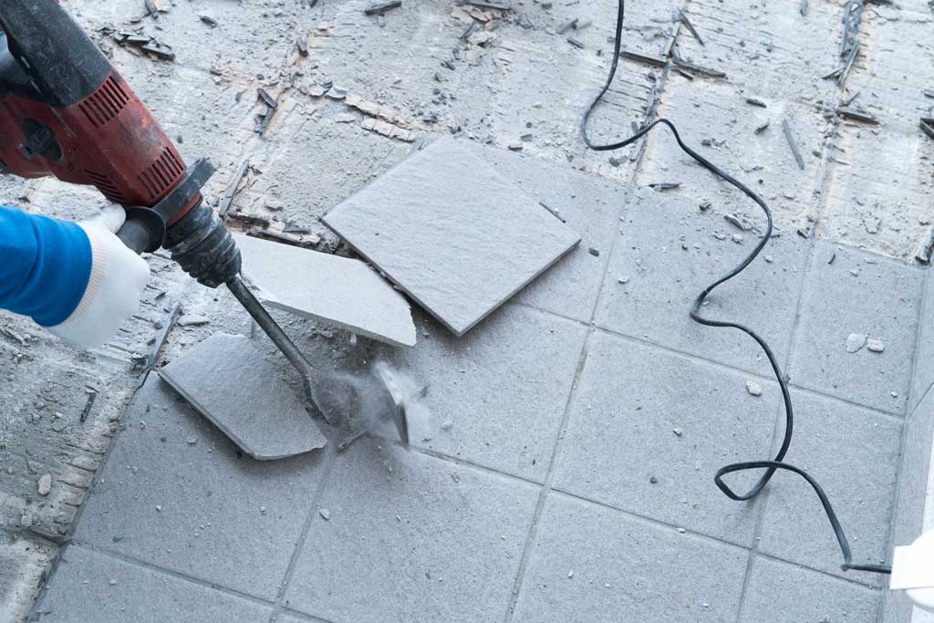 Traditional Tile Removal