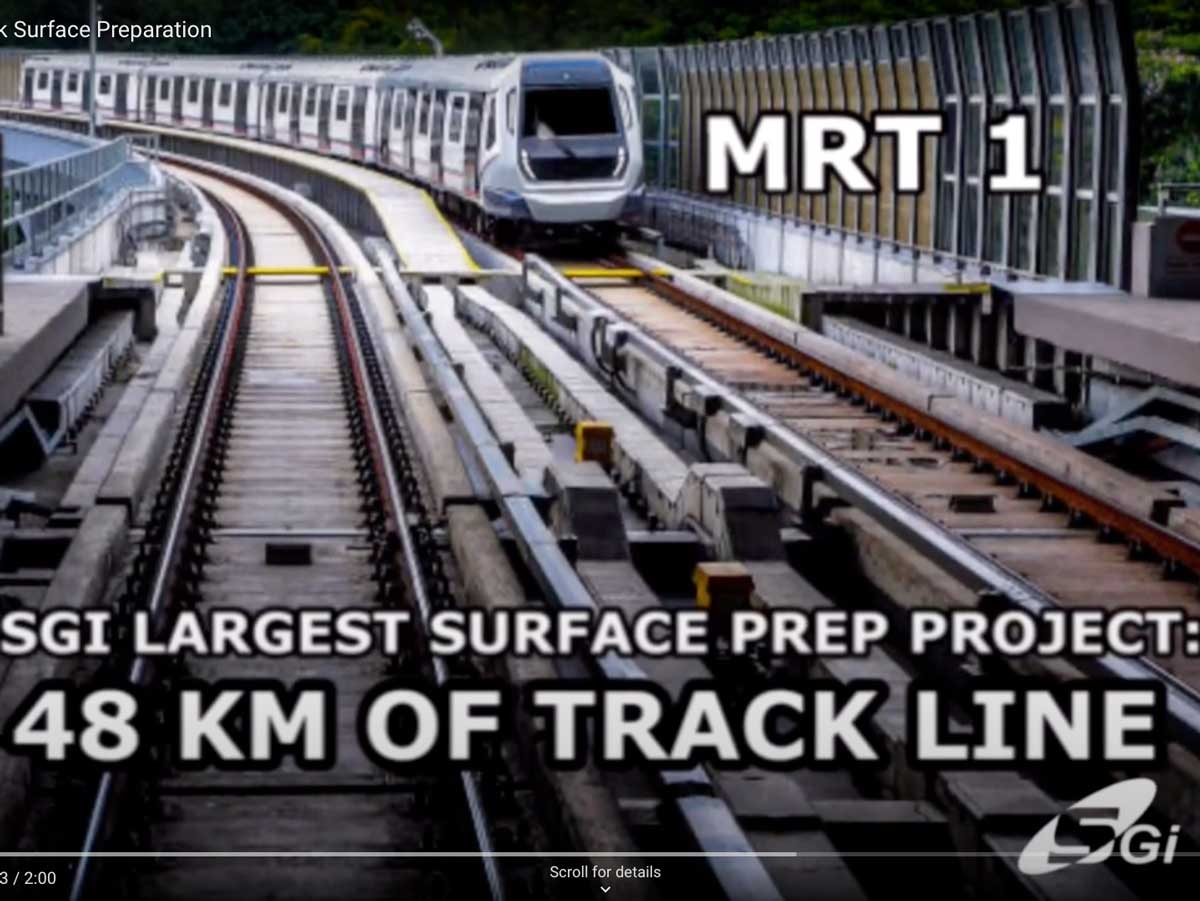 48KM of Rail Track Surface Preparation | SGI Engineering Technology | leading surface preparation, rectification and refurbishment specialist